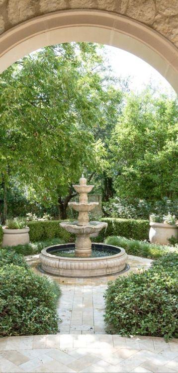 Pin de Suzie Adamson en Gardens Pinterest Fuentes, Jardín y