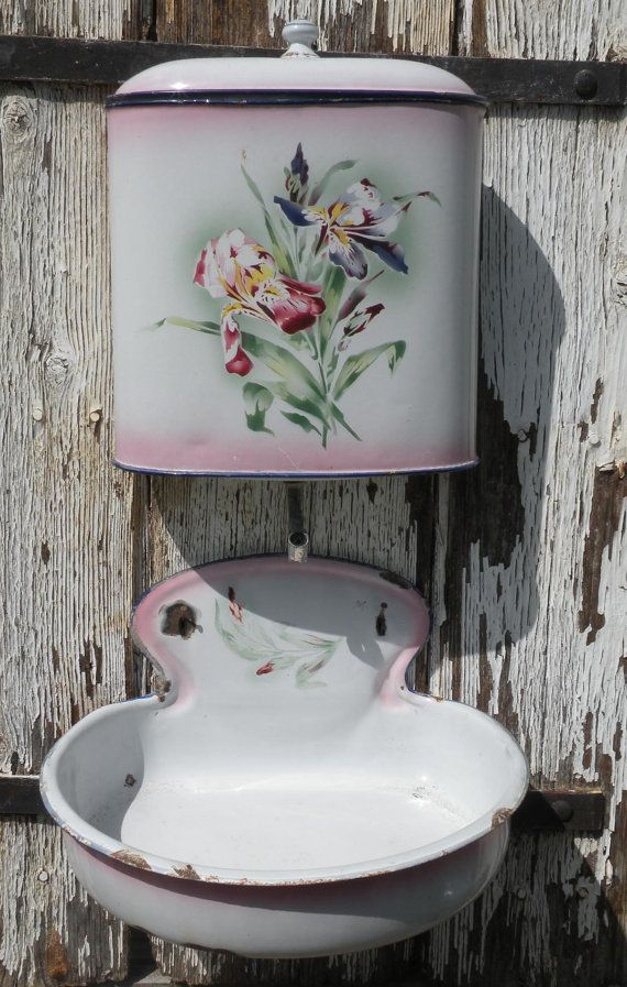 RESERVED FOR DEBI - antique French wall mounted lavabo/wall fountain