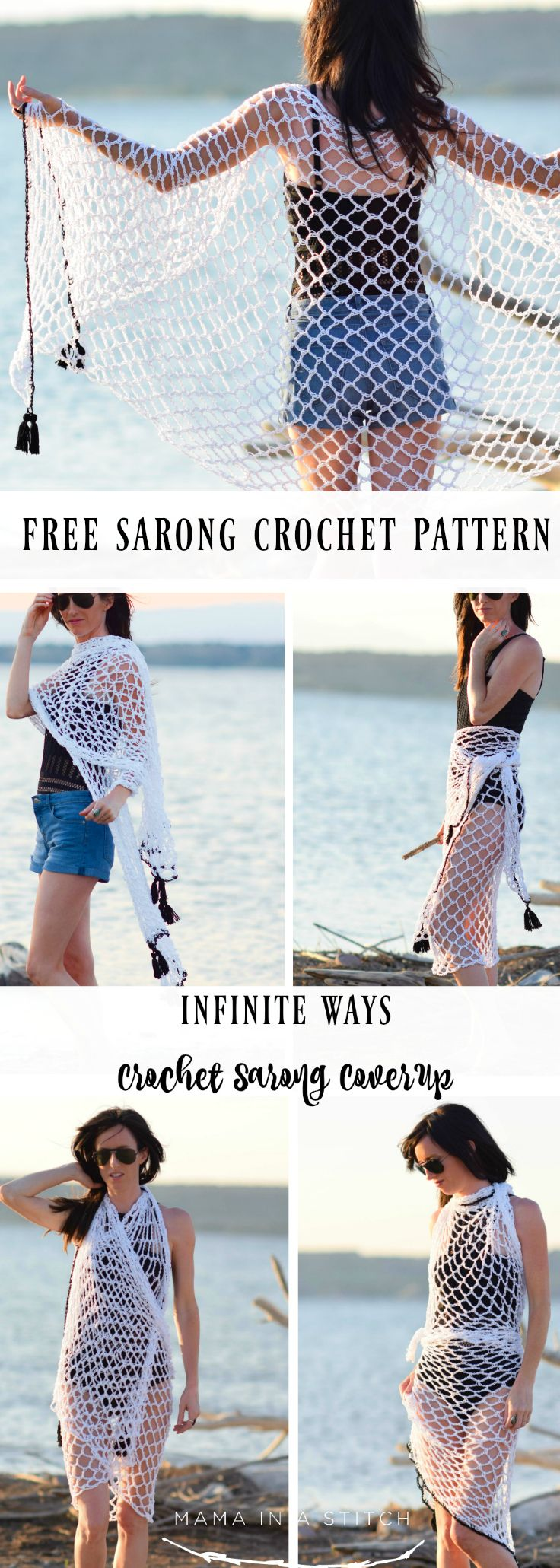 Crochet Cover-Up Pattern \'Infinite Ways\' Sarong | Ganchillo ...