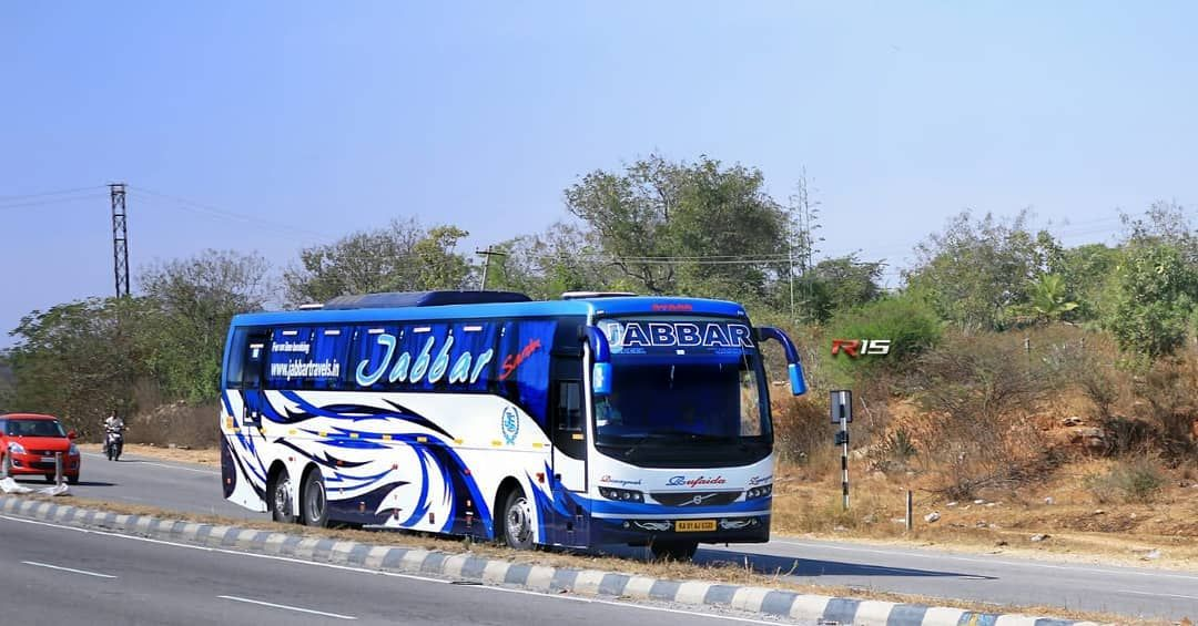 This Livery Volvo B11r Of Jabbar Heading Bangalore With