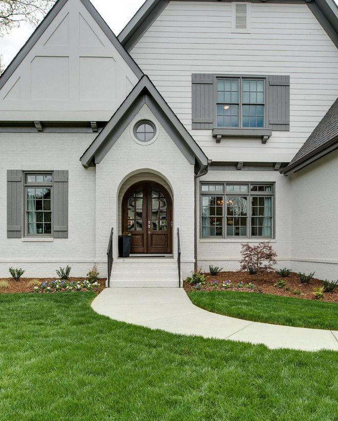 Image Result For Off White Painted Brick With Grey Trim Exterior Luxury Home Part 76