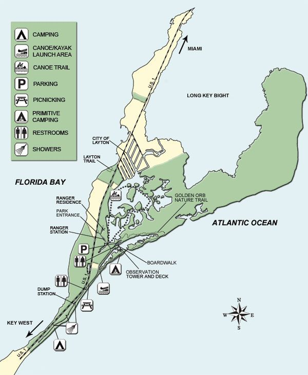 Map Of Long Key State Park Camping By Ocean Vacation Pinterest