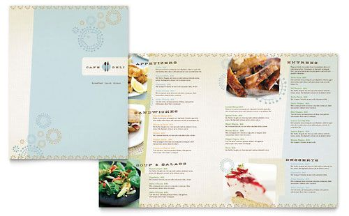 Cafe Deli Menu Template by @StockLayouts Graphic Designprint - microsoft office menu templates