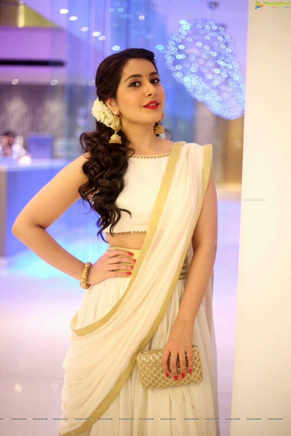Rashi Khanna Saree Hairstyles Indian Hairstyles Engagement Hairstyles