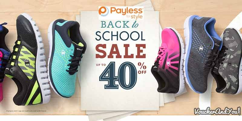 Back to School @Payless Upto 40% off
