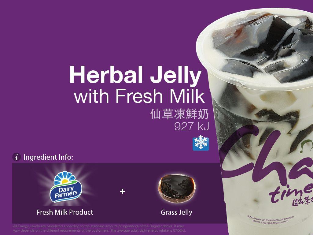 Chatime herbal tea - Chatime Australia Grass Jelly Roasted Milk Tea