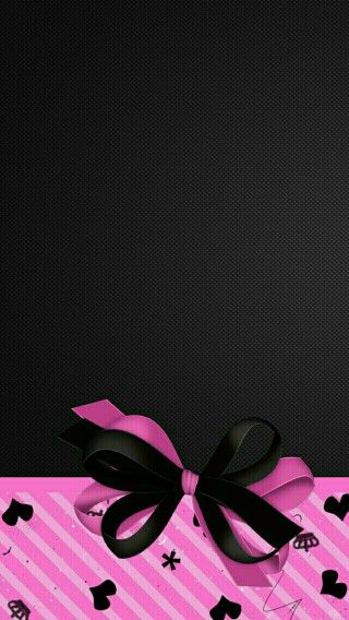 Black And Pink Bow Wallpaper Bling Wallpaper Cellphone Wallpaper
