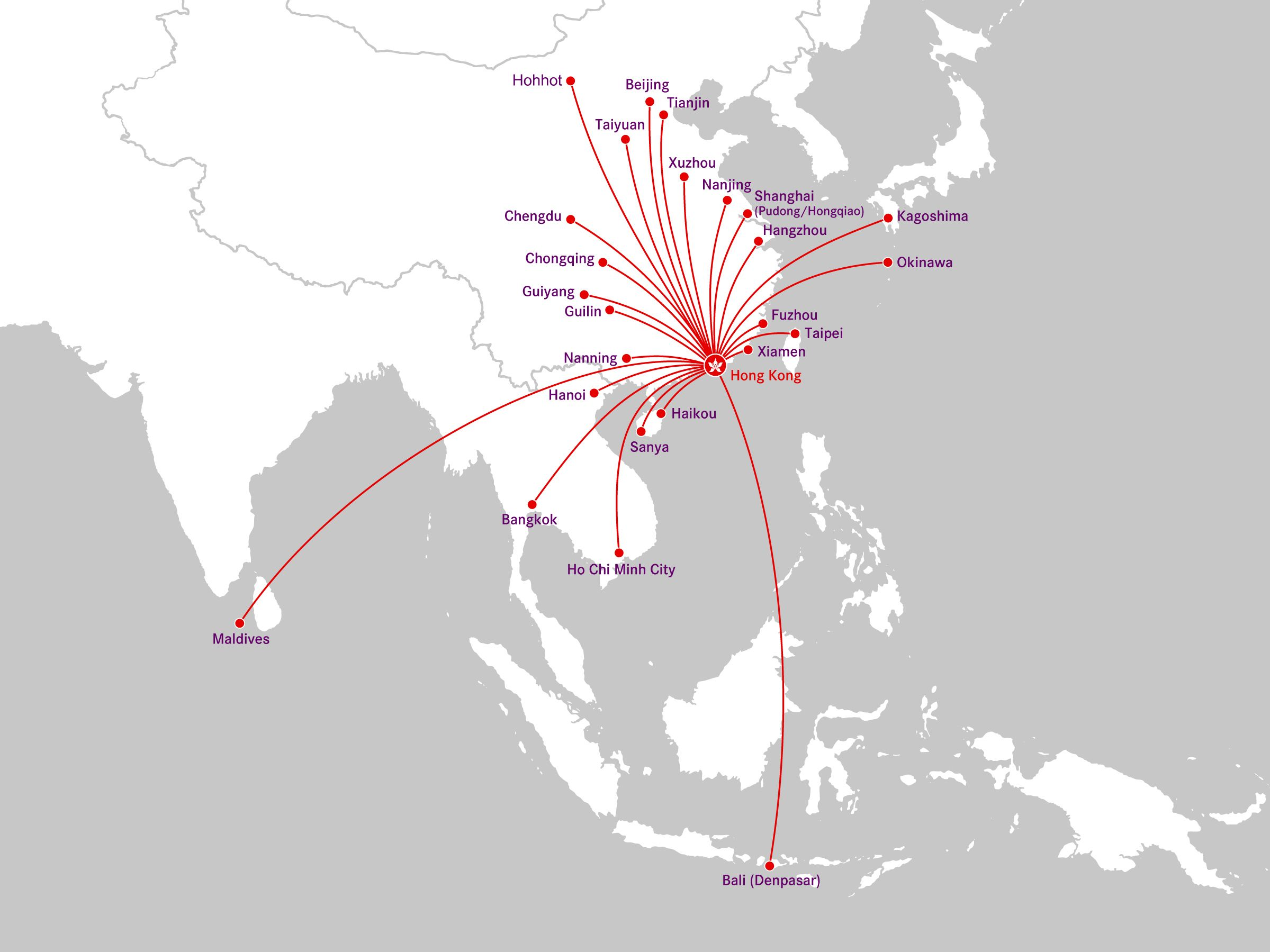 Hong Kong Airlines Route Map Destinations
