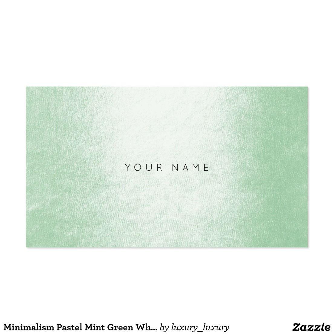 Minimalism pastel mint green white vip pack of standard business minimalism pastel mint green white vip pack of standard business cards reheart Choice Image