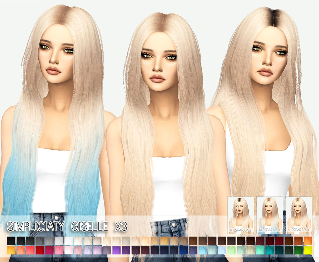 custom content hair sims 4 miss paraply simplicity s giselle hair retextured sims