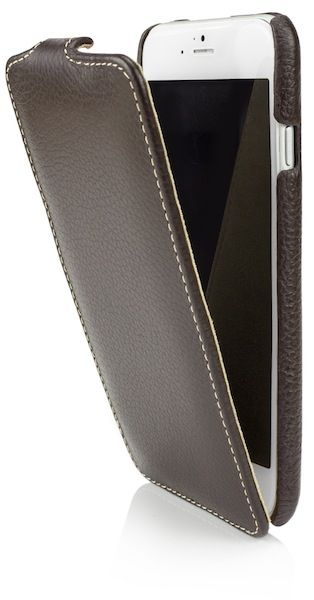 leather flip (für iPhone 6), Dunkelbraun, 24,90 €