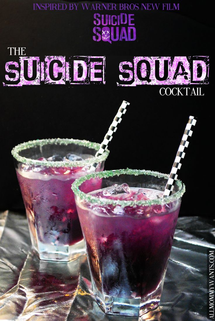 Cocktail the suicide squad schnapps rum and more for Cool alcoholic drink names
