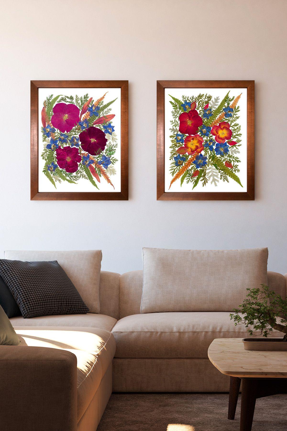 Red Roses Print Set Dried Flower Art Framed Floral Art Home Etsy Framed Floral Art Framed Flower Art Flower Wall Art