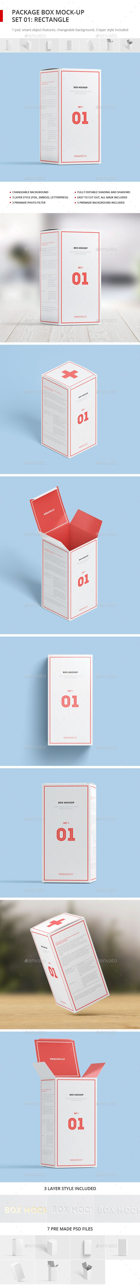 Download Package Box Mock Up Set 1 Rectangle Box Packaging Mockup Mockup Design Box Mockup