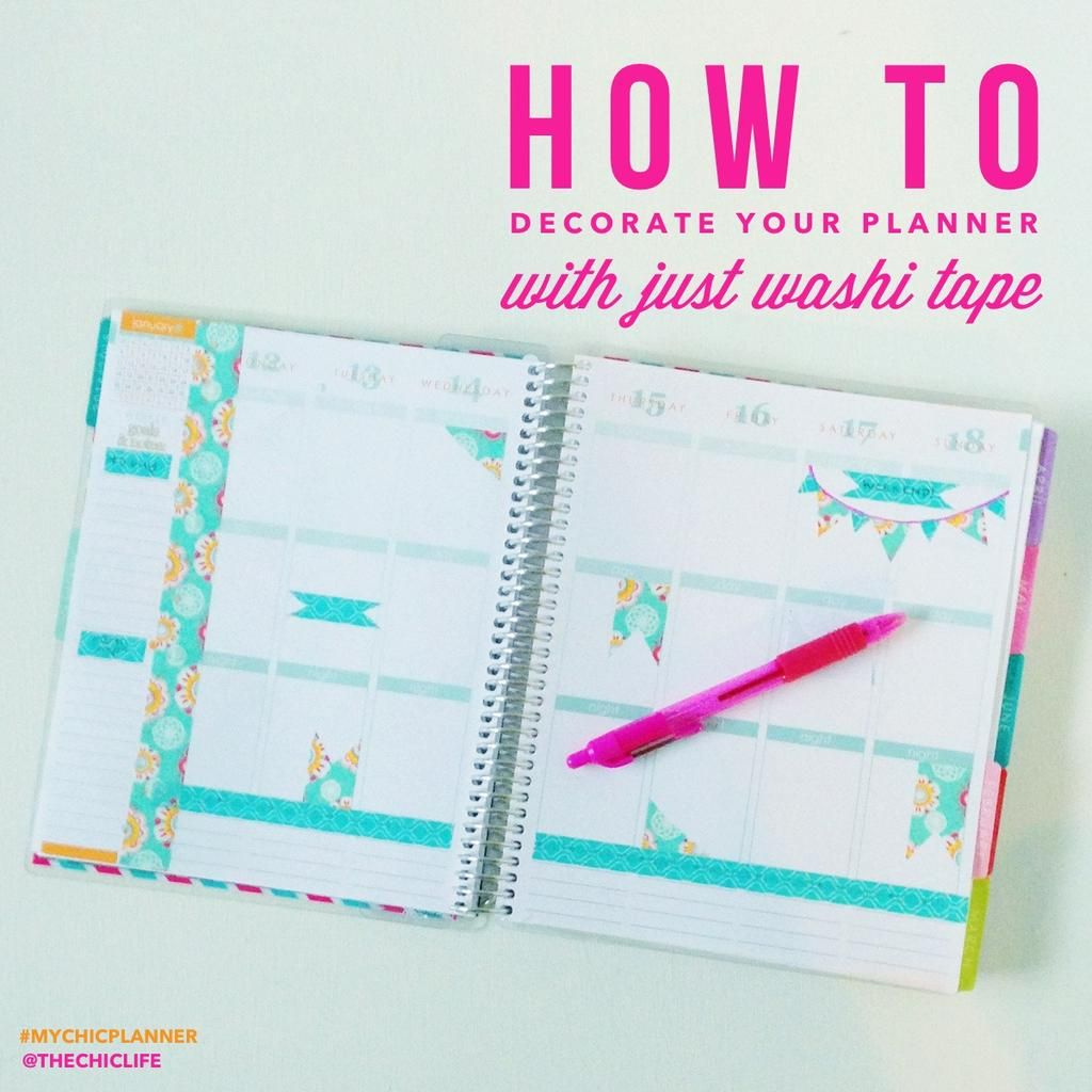 How to decorate your planner with washi tape washi tape for How do you use washi tape