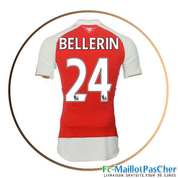 Maillot foot Arsenal rouge BELLERIN 24 Domicile 15 2016 2017