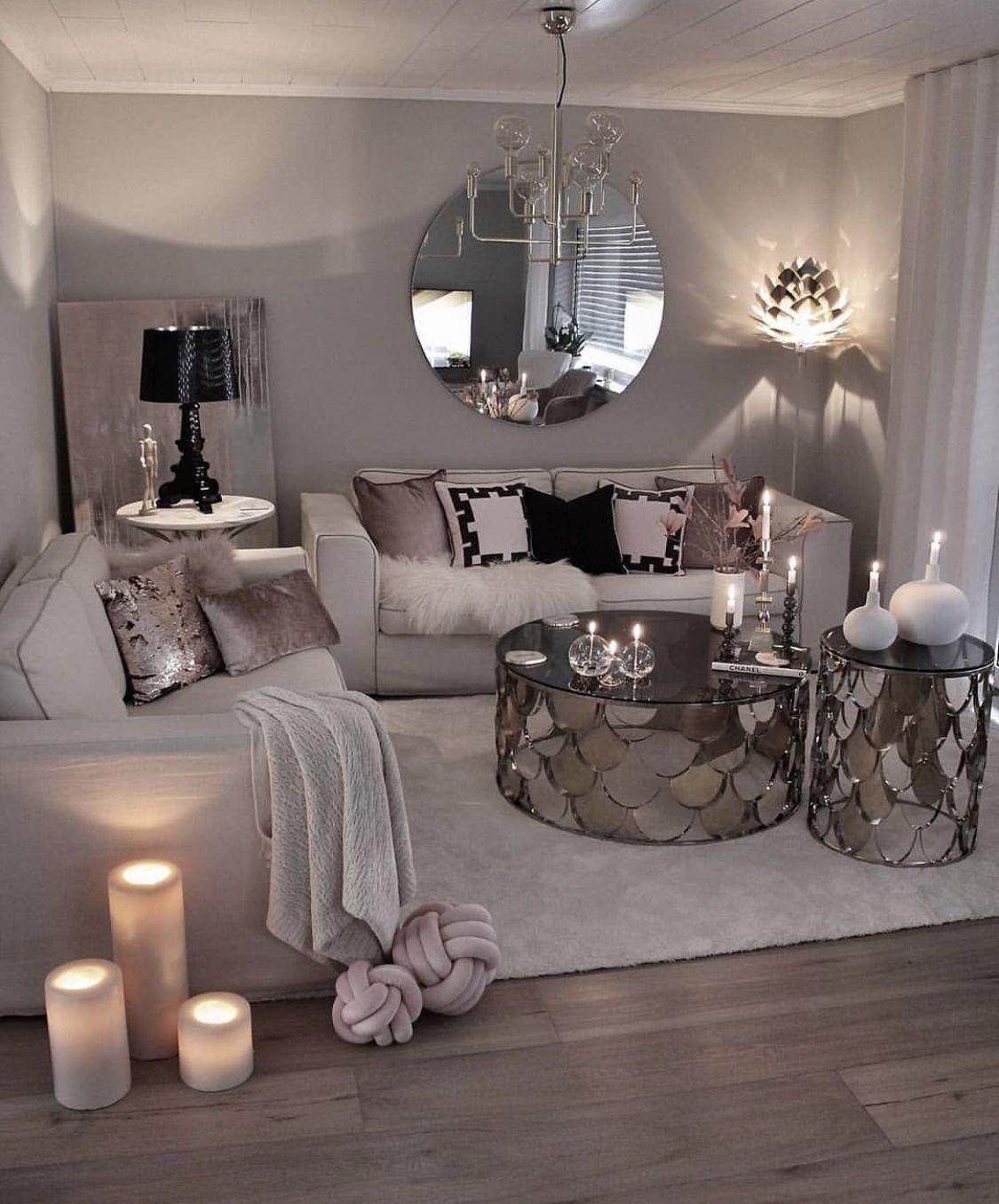 Living Room Decor Apartment, Silver Living Room Ideas