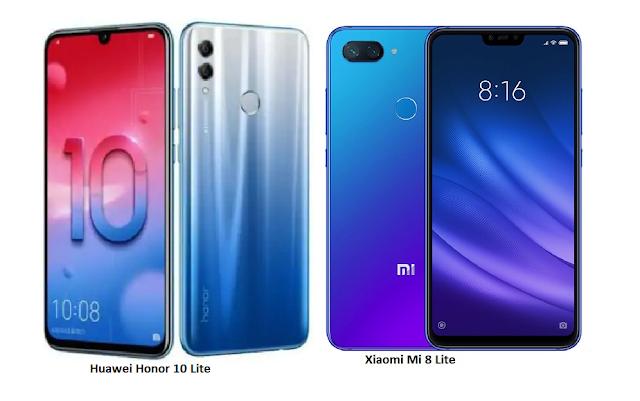 Tspn1 Xiaomi Mi 8 Lite Vs Huawei Honor 10 Lite Comparisons Xiaomi Huawei 10 Things