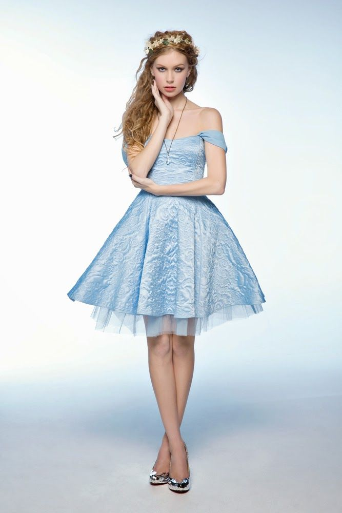 How to look like Cinderella: Baby Blue dress - silver, mirrored ...