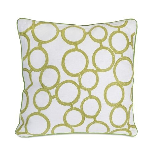 Green Rings Pillow
