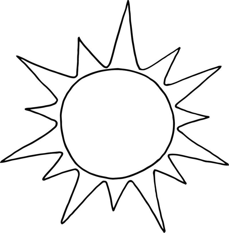 Sun Coloring Pages Printable Sun Coloring Pages Free Coloring