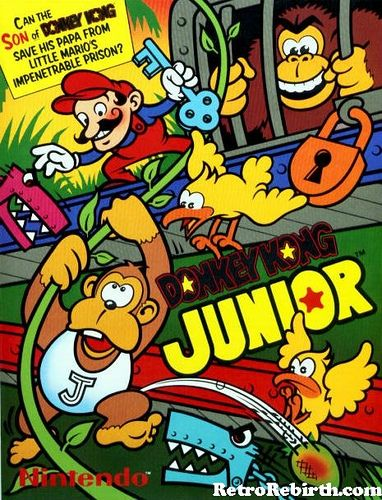 Donkey Kong Jr Nintendo Retro Vintage Arcade Classic Video Game Retro Games Poster Donkey Kong Junior Classic Video Games