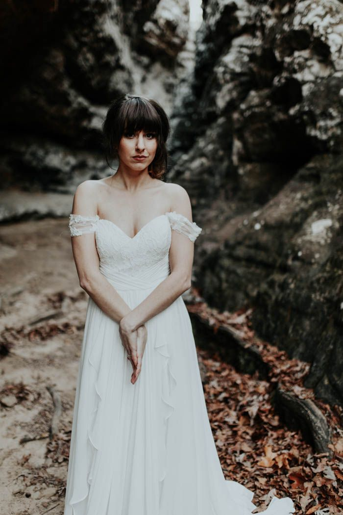 Rose Gold Wedding Inspiration at Petit Jean State Park | Frocks ...