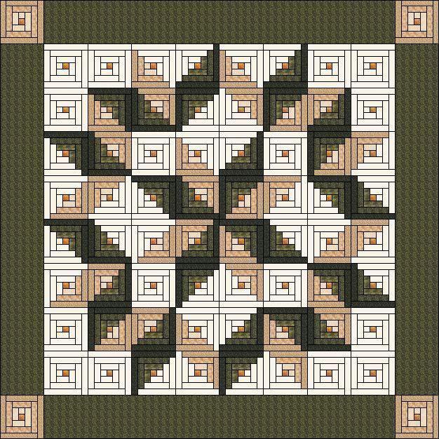 Pin by carla walton on log cabin quilts | Pinterest | Log cabin ... : log cabin quilt design layouts - Adamdwight.com