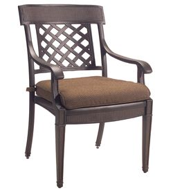 Garden Treasures Set Of 2 Herrington Cast Aluminum Patio Dining Chair