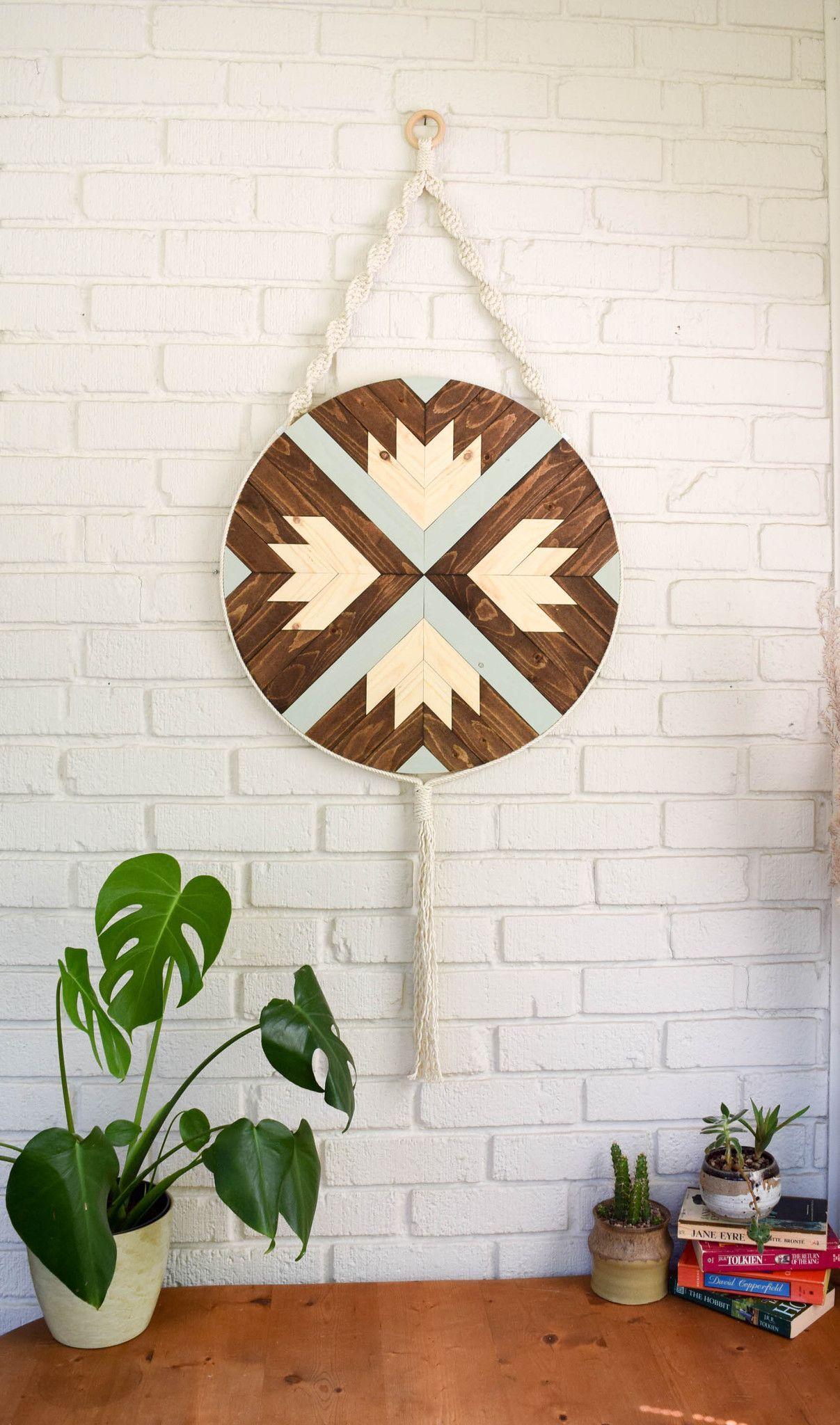Finch - Round Macrame Wood Wall Art Hanging | wood ...
