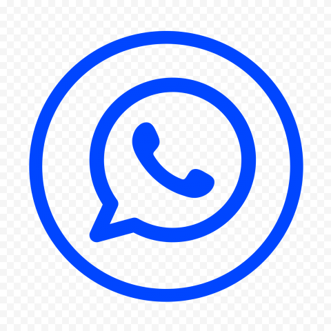 Hd Blue Outline Whatsapp Wa Watsup Round Circle Logo Icon Png Circle Logos Logo Icons Logos