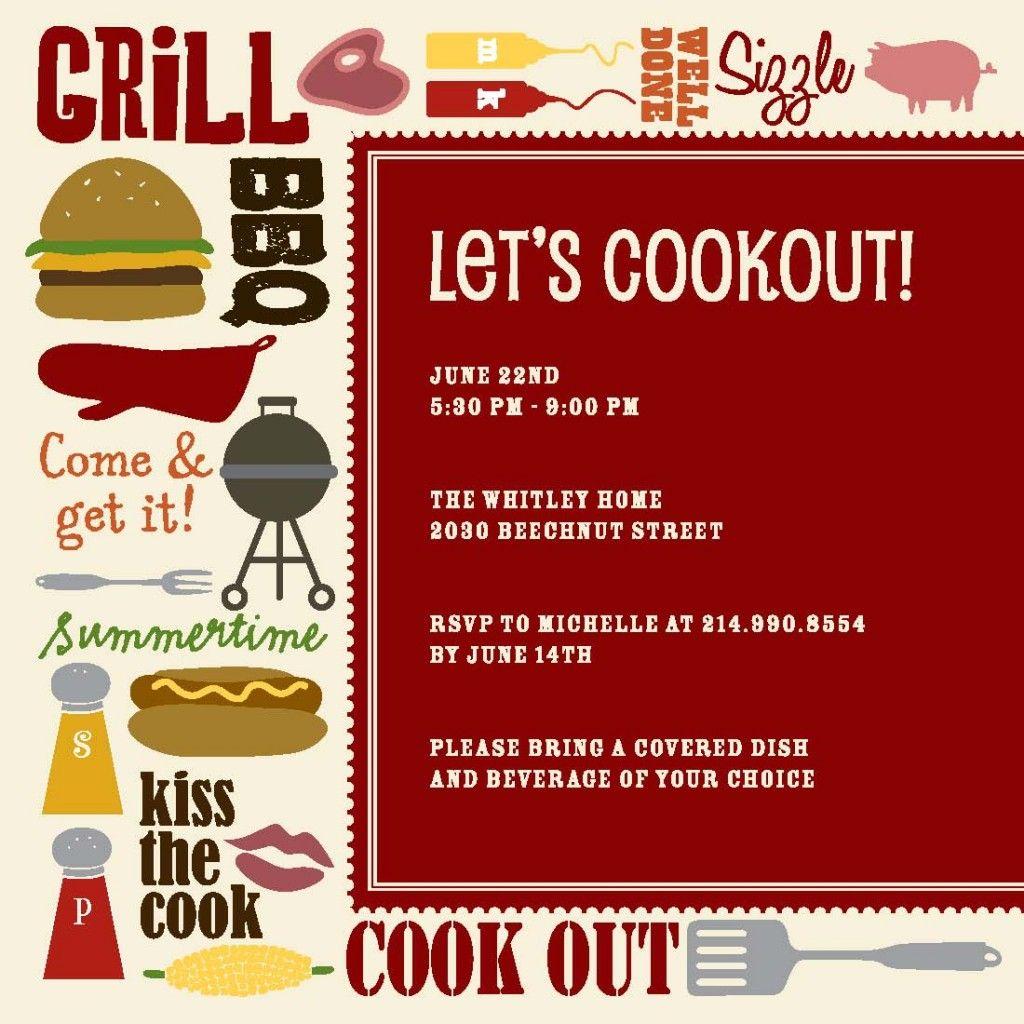 Cookout-Collage | Invitation Designs | Pinterest | Invitation design