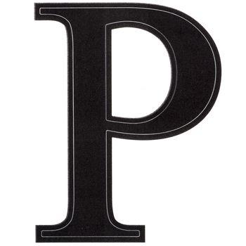Black Serif Vinyl Letter Sticker P Vinyl lettering