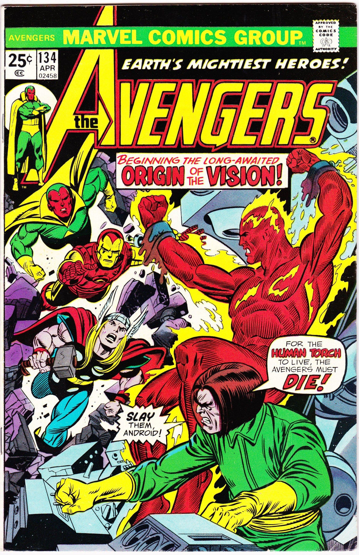 Avengers 134 April 1975 Marvel Comics Grade Vf Etsy In 2020 Marvel Comic Books Hulk Comic Comic Books