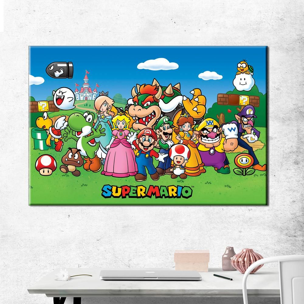 Super Mario Canvas Art