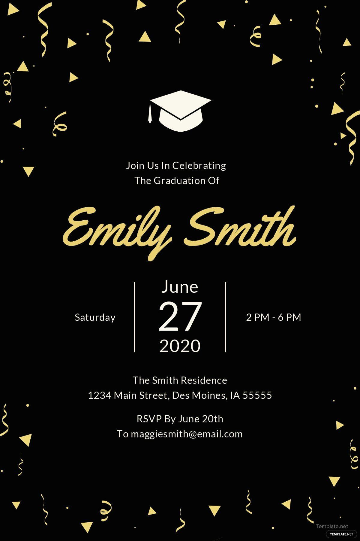 Free Printable Graduation Announcement Template Luxury Free Gradua Graduation Invitations Template Graduation Party Invitations Templates Party Invite Template