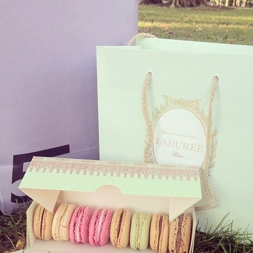 Laduree macarons from Paris!! Gimme now!!