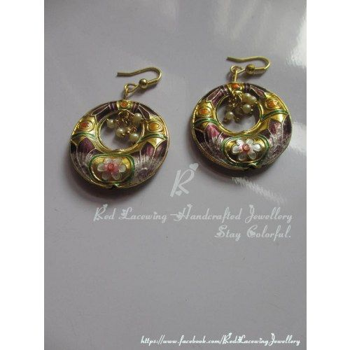 Meenakari Earrings - Online Shopping for Earrings by Red Lacewing - Handcrafted Jewellery