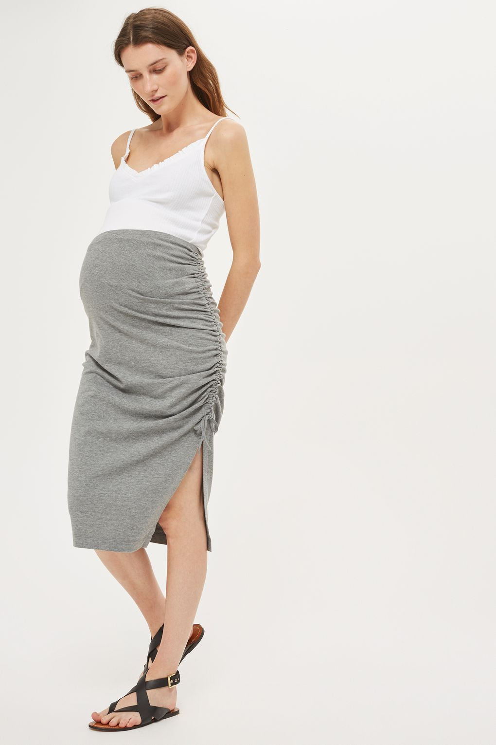 Maternity ruched pencil skirt maternity clothing maternity clothing maternity ruched pencil skirt ombrellifo Gallery
