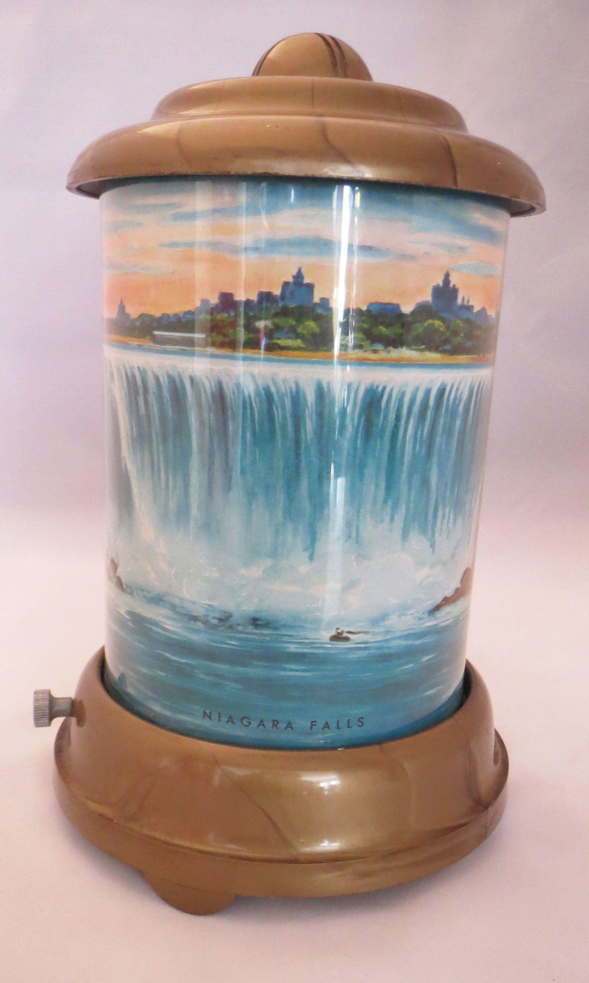 Vintage 1950s Niagara Falls Motion Lamp Motion Lights Vintage Tin Art Lamp