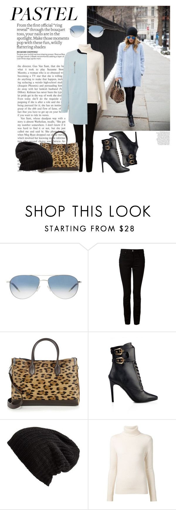 """""""Pastel for Winter"""" by katsin90 ❤ liked on Polyvore featuring Avenue, Oliver Peoples, Alexander Wang, Ralph Lauren, Balmain, Free People, Chloé and Y.A.S"""