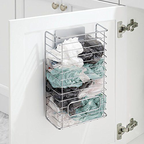 Door Rack Kitchen Cupboard Storage Organiser Hanging Trash Bag Holder Cabinet Uk Ebay