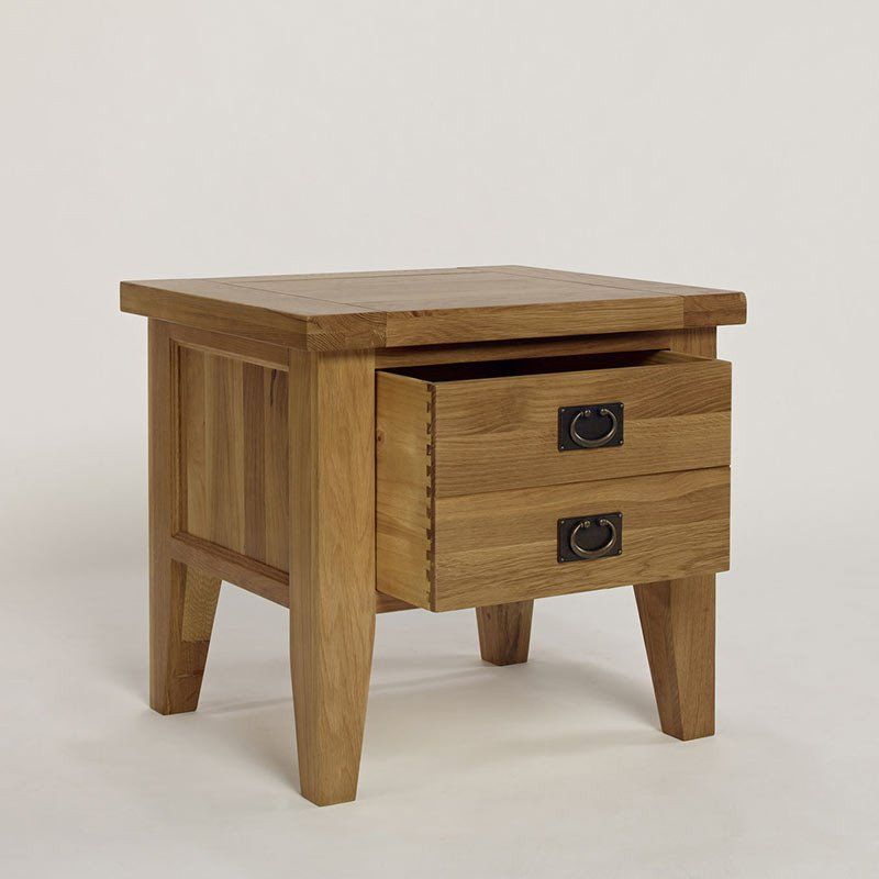 provence solid oak 1 drawer lamp table bedside table ametis space