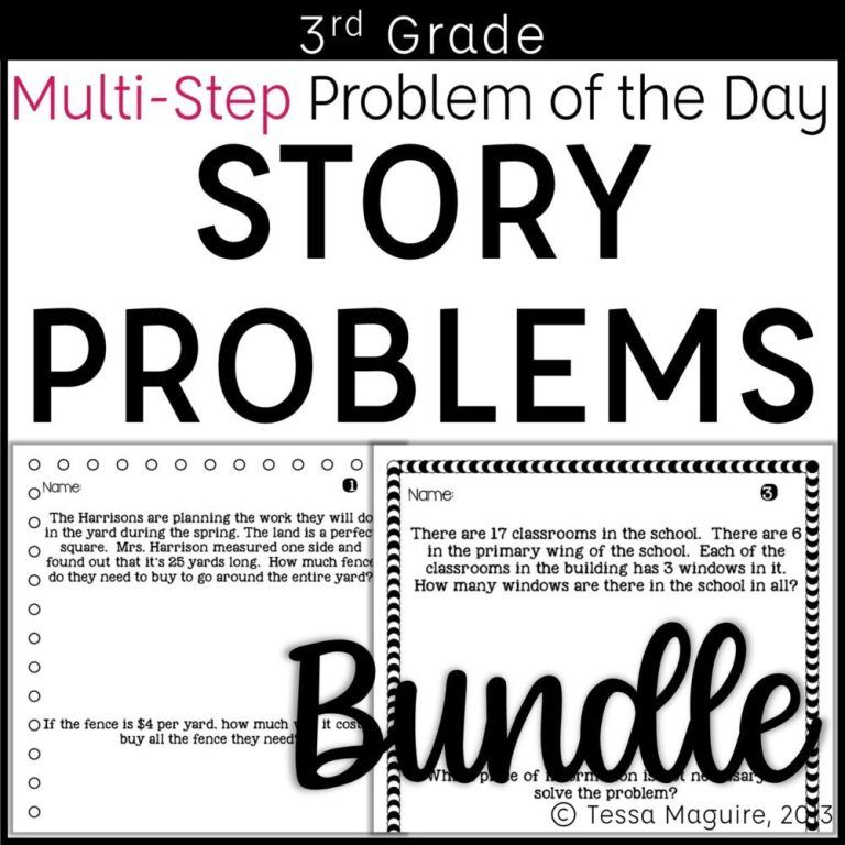 3rd Grade Multi-Step Word Problems of the Day BUNDLE