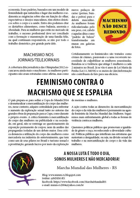 Mulheres nao sao Mercadoria! Mulheres em Movimento Mudam o Mundo