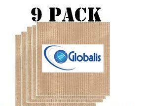 Globalis Superior 9 Pack Super Nonstick Dupont Teflon Reusable Food Dehydrator Sheets For Excalibur 2500 2900