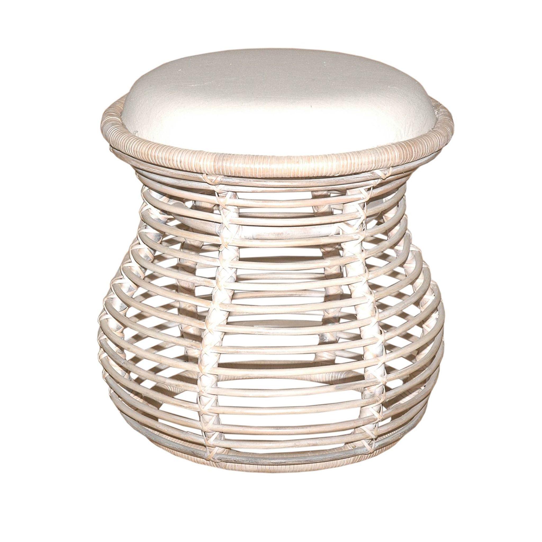 Orinda Natural Upholstered Stool | Overstock.com Shopping - The Best ...
