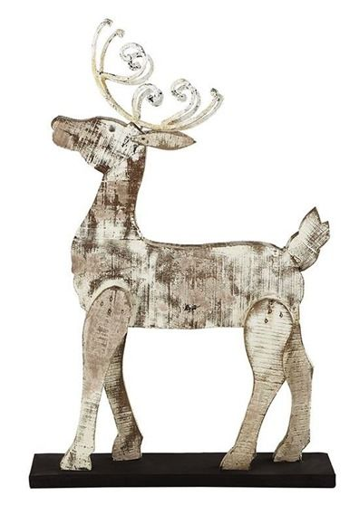 wooden reindeer templates template a jigsaw some plywood and paint and you could make your - Wooden Deer Christmas Decorations