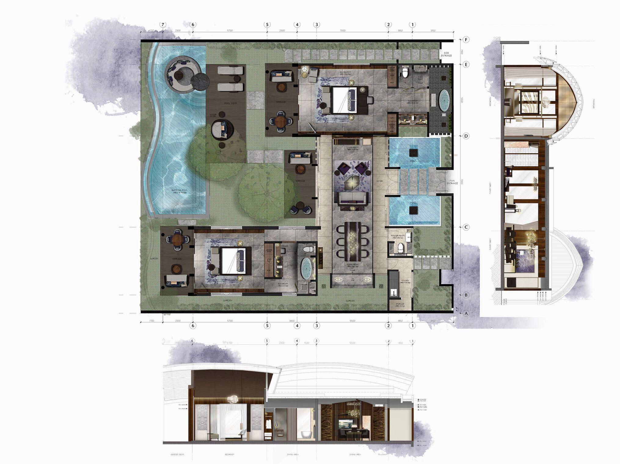 New World Grand Bali Resort 2bedroom Villa Bali House Bali Resort Resort Plan
