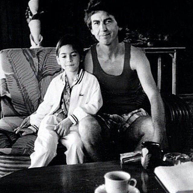george harrison with his son dhani harrison george